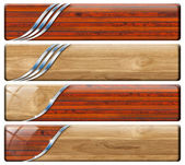4 つの水平のヴィンテージとモダンなヘッダー — ストック写真