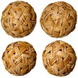 Four Woven Bamboo Balls — Stock Photo
