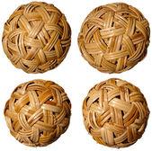 Four Woven Bamboo Balls — Stock Photo