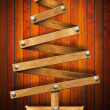 Wooden and Stylized Christmas Tree — Stock Photo #12488567