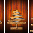 Stock Photo: Extensible Wooden Christmas Trees