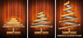 Extensible Wooden Christmas Trees — Stock Photo