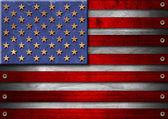 Usa grunge hout vlag — Stockfoto