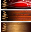 Set of Horizontal Christmas Banners — Stock Photo