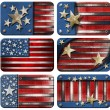 Set of USA Grunge Flags — Stock Photo #12602156