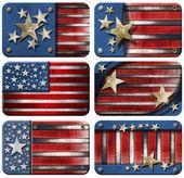 Set of USA Grunge Flags — Stock Photo