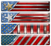 Set of USA Grunge Flags — Stock fotografie