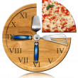 Pizza Time - Clock — Stock Photo