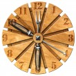 Wooden Kitchen Clock — Stock Photo