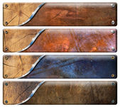 4 つの水平方向のグランジ ヘッダー — ストック写真