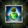 Stockfoto: Saving World Frame - Ecology Concept