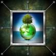 Saving World Frame - Ecology Concept — Stock Photo