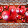 Vintage Hearts Background — Stock Photo