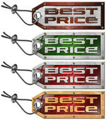 Set Best Price Tags - 4 Items — Stock Photo