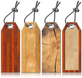 Set of Wooden Tags - 4 items — Stock Photo