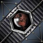 Business Hexagon Grunge background — Stock Photo #13130103