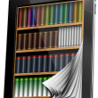 Tablet Pages Bookcase — Stock Photo #13170308