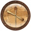 Wooden Clock Lunch Time — Foto Stock