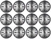 Conjunto de relojes metal grunge — Foto de Stock