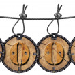 Written Wood Circular Tags — Stock Photo