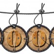 Written Wood Circular Tags — Stock Photo #13315522