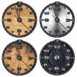 Stock Photo: Set of Grunge Clocks