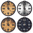 Set of Grunge Clocks — Stock Photo