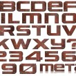 Grunge Metal Letters and Numbers — Stock Photo #13413329