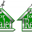 Stock Photo: House Tag For Sale and For Rent - 2 Items