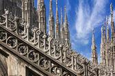 Cathédrale gothique de milan italie — Photo