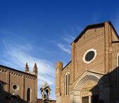 Church of St. Anastasia - Verona Italy — Stock Photo