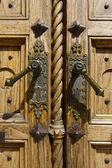 Detail of Old Wooden Door — Stock Photo