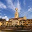 Verona Cathedral and Castel San Pietro - Italy - ストック写真