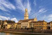 Verona Cathedral and Castel San Pietro - Italy — Stock Photo