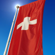 Switzerland Flag - Swiss - Suisse - Schweiz — Stock Photo