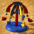 Wooden Colorful Carousel Toy — Foto Stock