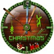 Merry Christmas Grunge Clock — Stock Photo