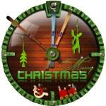 Merry Christmas Grunge Clock — Stock Photo