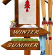 Christmas Holidays Wooden Sign — Stock Photo