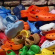 Colored Plastic Clogs — Stock Photo