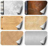 Set of Grungy Business Cards Pages Backgrounds — Stock Photo