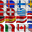 Set of Metal Flags - 16 Items — Stock Photo