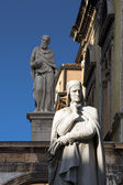 Statue of Dante in Verona - Italy — Stock Photo