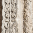 Closeup of Marble Decoration - XII Century Verona Italy — Foto de Stock