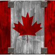 Wooden Canadian Flag — Foto de Stock