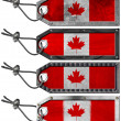 Canada Flags Set of Grunge Metal Tags — Stock Photo