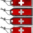 Switzerland Flags Set of Grunge Metal Tags — Stockfoto