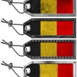 Belgium Flags Set of Grunge Metal Tags — Stock Photo