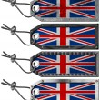 UK Flags Set of Grunge Metal Tags — Stock Photo
