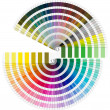 Pantone Color Palette - Semicircle - Foto de Stock  